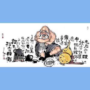 国内文与画俱佳的艺术家中国北方书画研究会常务理事国家一级美术师刘子玉(老拙穿破袄)