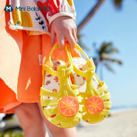 迷你巴拉巴拉女童凉鞋2021夏款新品透气防踢童趣水果图案果冻鞋