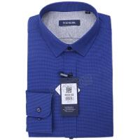 youngor/雅戈尔 新品 BN12647FFA男士藏青色保暖长袖衬衣
