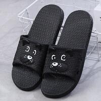 室内拖鞋女夏家用可爱卡通小狗情侣居家凉拖滑洗澡浴室托鞋
