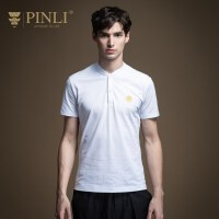 PINLI品立2020夏季新款男�b短袖T恤POLO衫夏天�w恤上衣男潮日常