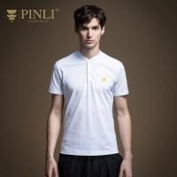 PINLI品立2020夏季新款男装短袖T恤POLO衫夏天体恤上衣男潮日常