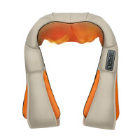 朗悦 按摩披肩LY-616A 加热颈椎按摩器 揉捏肩颈捶打 颈部腰部肩部颈肩按摩器 59种模式调节 19种力度调节 三段定时选择