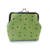 零钱包田园布艺搭扣零钱包 帆布带钥匙扣 女士手拿小包包创意卡包