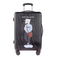 卡通行李箱女拉杆箱小清新韩版可爱少女旅行箱20寸个性密码箱男潮