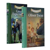 【中商原版】Dickens狄更斯经典文学系列2册套装 雾都孤儿 远大前程Oliver Twist
