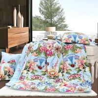 富安娜家纺 圣之花纯棉印花夏被 空调被床上用品 春锦瑟花韵 夏被