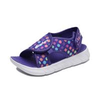 斯凯奇(Skechers)女童鞋新款小童魔术贴凉鞋 凉拖沙滩鞋 86934N