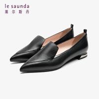 莱尔斯丹 商场同款秋冬时尚简约尖头低跟马蹄跟女单鞋船鞋LS AT13026