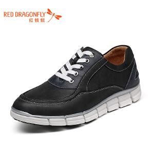 红蜻蜓男鞋 春秋新款功能鞋防扭单鞋休闲鞋 真皮运动休闲板鞋潮鞋