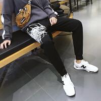 九分裤男潮青少年修身束脚裤子男士韩版休闲裤青年运动裤哈伦长裤YC-840