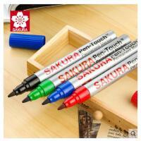 日本SAKURA樱花单头油性记号笔 黑色粗头儿童绘画勾线笔大容量绿色签到笔红色光盘笔勾边大头笔