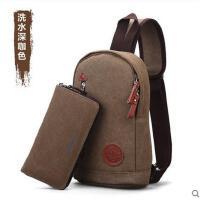 韩版男士胸包 休闲男包 单肩包帆布腰包 小包 潮 骑行包 背包斜挎包包