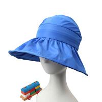 夏季帽韩版儿童遮阳潮防晒遮阳空顶太阳帽海边沙滩防晒帽子夏天