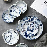 光一网红日式家用寿司陶瓷调味碟创意餐具小吃碗可爱个性酱油醋蘸料碗