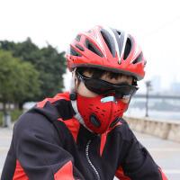 骑行口罩 冬季活性炭口罩自行车保暖面罩男秋滤片