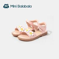 迷你巴拉巴拉女童凉鞋2021夏款新品易穿脱防滑耐磨日晒变色凉鞋