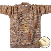 儿童加绒加厚毛衣男童季新款中大童12保暖针织套头打底毛衫15岁 黄色 现货