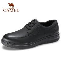 camel骆驼男鞋 秋季新品生活休闲皮鞋青年圆头商务通勤轻质牛皮鞋