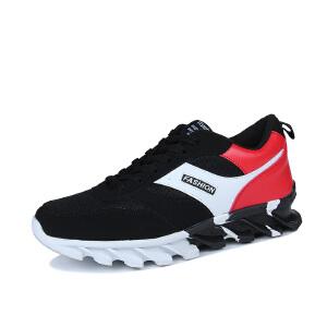 秋季新款韩版潮流男鞋子百搭跑步运动休闲透气男士帆布鞋板鞋潮鞋