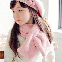 儿童围巾秋冬季时尚韩版男童女童宝宝仿獭兔毛围脖公主潮毛绒小孩婴儿