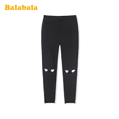 【满200减120】巴拉巴拉女童打底裤2020新款春装儿童裤子中大童透气时尚弹力百搭
