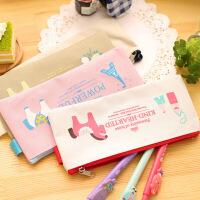 笔袋 卡通小马笔袋可爱学生文具韩版布笔袋收纳铅笔袋龙猫文具盒