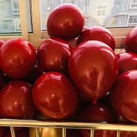 马卡龙色气球 结婚气球加厚彩色圣诞节气球装饰布置马卡龙网红气球儿童100个装 乳白色 马卡龙婴儿绿一百