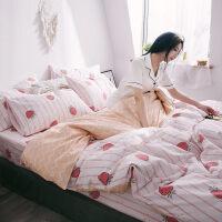 君别床上四件套ins小清新北欧女被套床单三件套1.5米被子被单