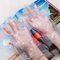 1000只装一次性手套薄膜加厚加长批发龙虾餐饮美发透明厨房家用防水食品级