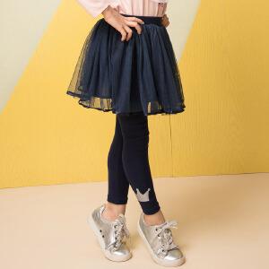 【双十二狂欢】水孩儿souhait童装2018秋装新款女童裙式打底裤AMQ0734578