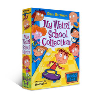 英文原版 My Weird School Collection: Books 1 to 4 送音频疯狂学校 1-4册盒装 经典桥梁书 Miss Daisy is crazy Mr.Klutz is n