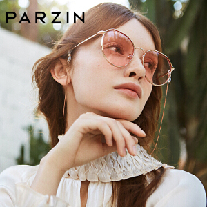 帕森时尚太阳镜女士金属圆框迷幻浅色尼龙镜片潮墨镜2019新品8205