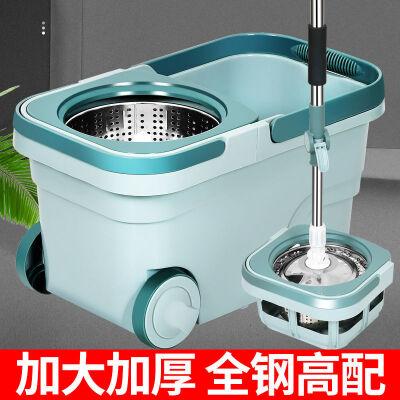 加大加厚旋转拖把桶家用拖把干湿两用免手洗好神拖懒人墩布桶