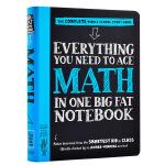 【中商原版】美国中学生优等生笔记 Everything You Need to Ace Math in One Big