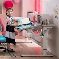 台湾进口 康朴乐新款儿童学习桌双桌书桌写字桌电脑桌可升降倾斜