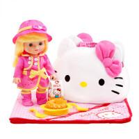 KT猫儿童过家家女孩玩具小公主野餐组合套装仿真洋娃娃