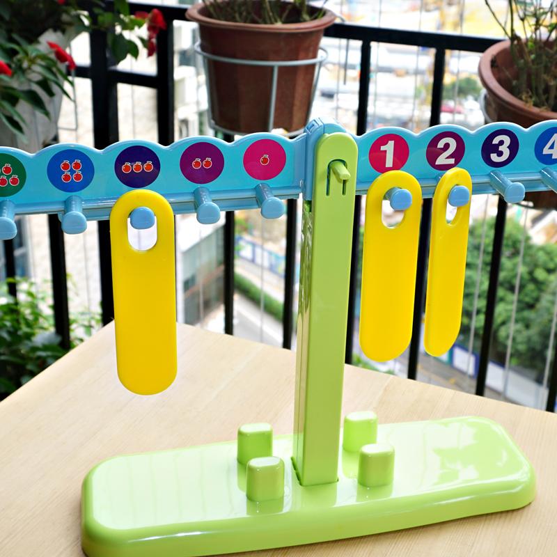 小乖蛋数字天平 幼儿园儿童数学算术教具 算数计算架加减数字运算