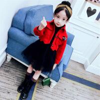 女童连衣裙秋季2017新款韩版时髦加绒洋气裙子3-12岁儿童公主裙