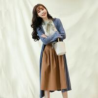 白领公社 打底衫 女士秋冬季新款打底上衣显瘦高领毛衣女式韩版潮流时尚针织衫学生外套女装