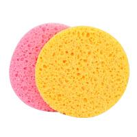 歌丽 圆木浆海绵(2个装)洁面扑 洗脸扑 洗脸海绵 化妆海绵 美容美妆工具
