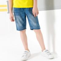 【2件5.5折到手价:87】小猪班纳童装男童短裤薄款2019夏季新款儿童牛仔裤子