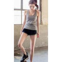 韩版瑜伽健身服背心短裤运动套装女夏无袖跑步服专业速干衣