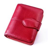 女士钱包短款多功能女生钱包折叠大气软皮时尚简约