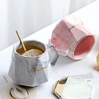 创意马克杯少女北欧ins简约超可爱陶瓷创意情侣款水杯子一对咖啡
