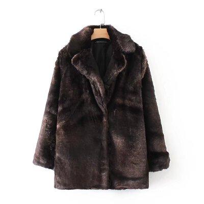 女装秋冬新款欧美范人造毛毛大翻领长袖保暖外套大衣女 一般在付款后3-90天左右发货,具体发货时间请以与客服协商的时间为准