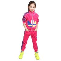 女童运动套装春秋装2018新款金丝绒时尚两件套中大童儿童洋气170