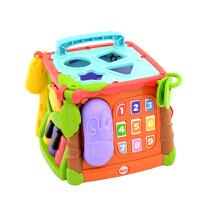 费雪探索学习六面盒(双语)宝宝认知形状电话早教益智玩具CMY28