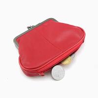 皮短款小钱包女韩版简约钱包硬币包