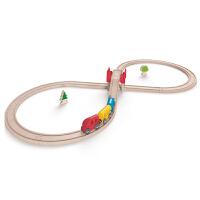 Hape火车轨道经典8字套3-6岁儿童早教火车轨道玩具婴幼玩具木制玩具E3700